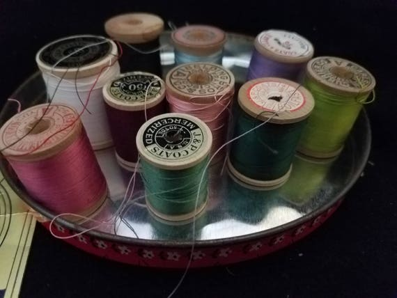 Vintage/Thread/Hallmark/Patchwork Tin