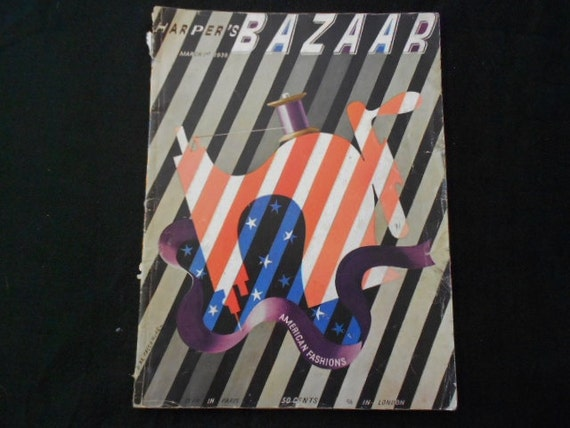 1938 Harpers Bazaar Magazine Fashion