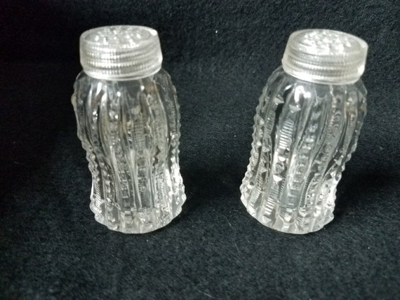 Vintage Glass Salt and Pepper Shakers