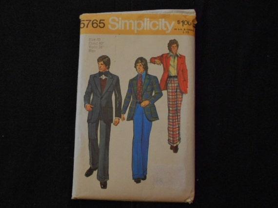 Pattern/Mens Suits/1973/Simplicity/5765