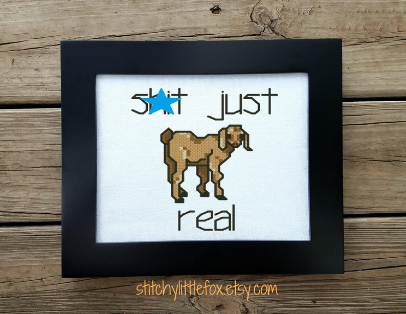 Subversive Cross Stitch - Funny Embroidery - Swear Cross Stitch - Animal  Pun - Goat Cross Stitch - PDF Pattern - Snarky Cross Stitch - Shit