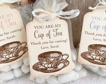 Tea party favors Paper tea cups Tea cup favors Tea party Tea party decorations Baby shower Wedding decorations