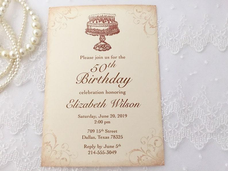Adult Birthday Invitations Happy