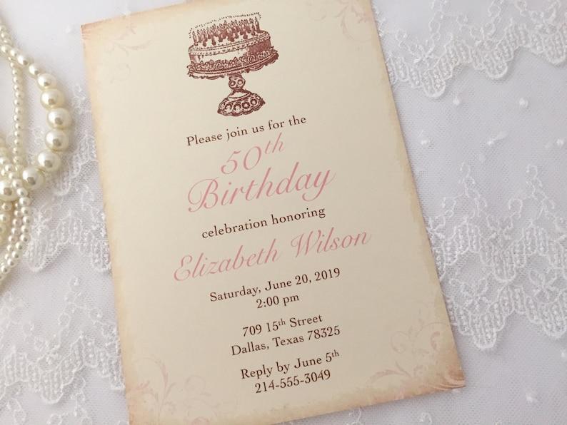Birthday Invitations For Her Happy