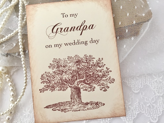 FPS0016 Wedding Day Card To My Grandpa On My Wedding Day Card Grandpa Card