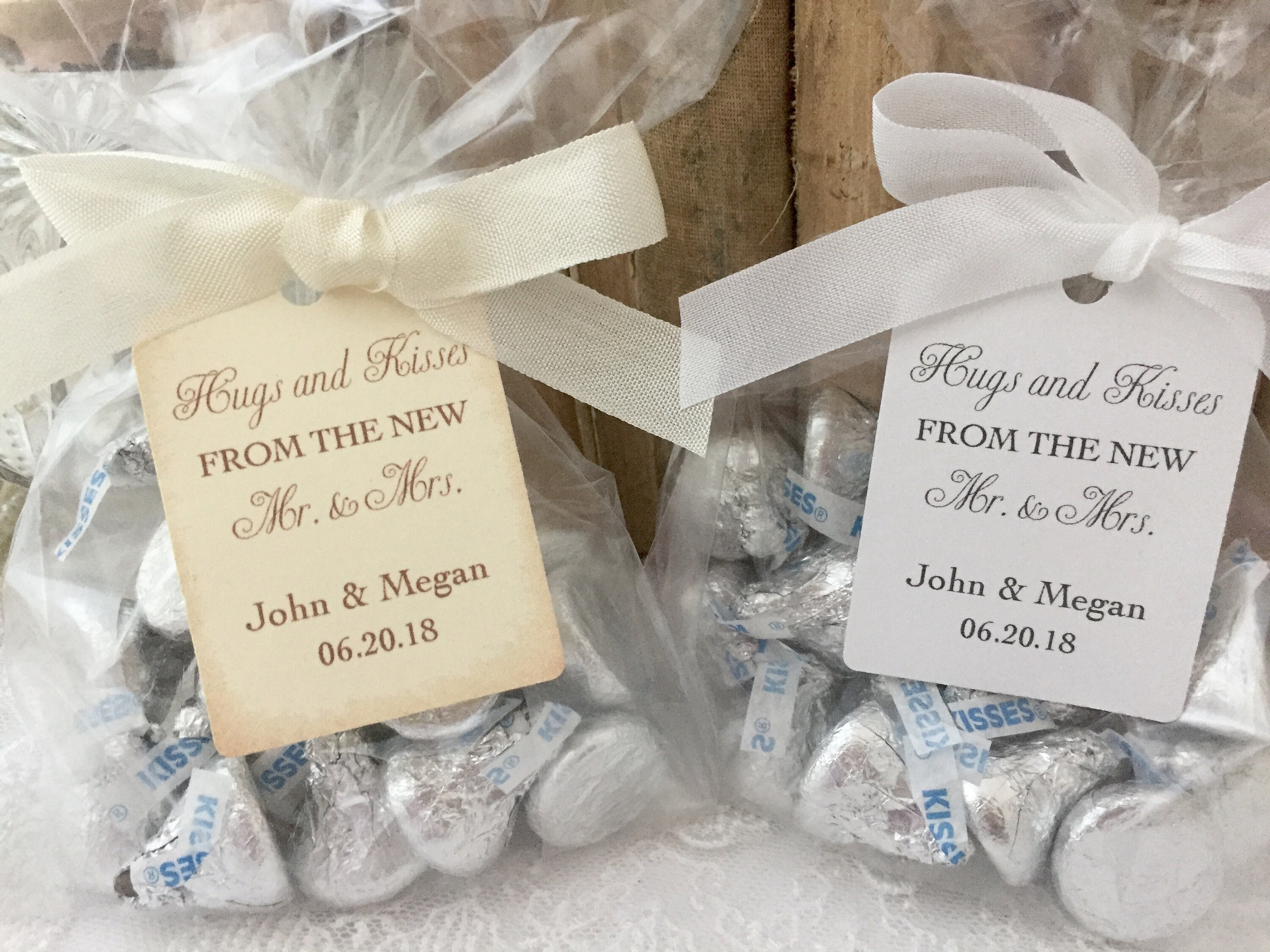 Hugs And Kisses Wedding Favors Hugs And Kisses Favor Bags Etsy