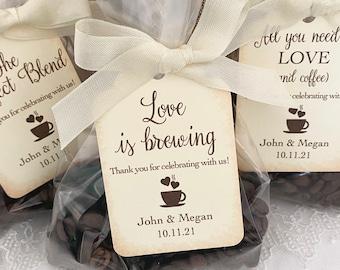 Wedding Coffee Favor Bags, Coffee Wedding Favors, Wedding Espresso Favors, Coffee Bean Favors, Personalized Coffee Favors, Printed