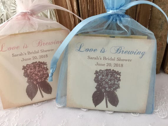 Tea Bag Favors Fully Assembled Wedding Bridal Shower | Etsy