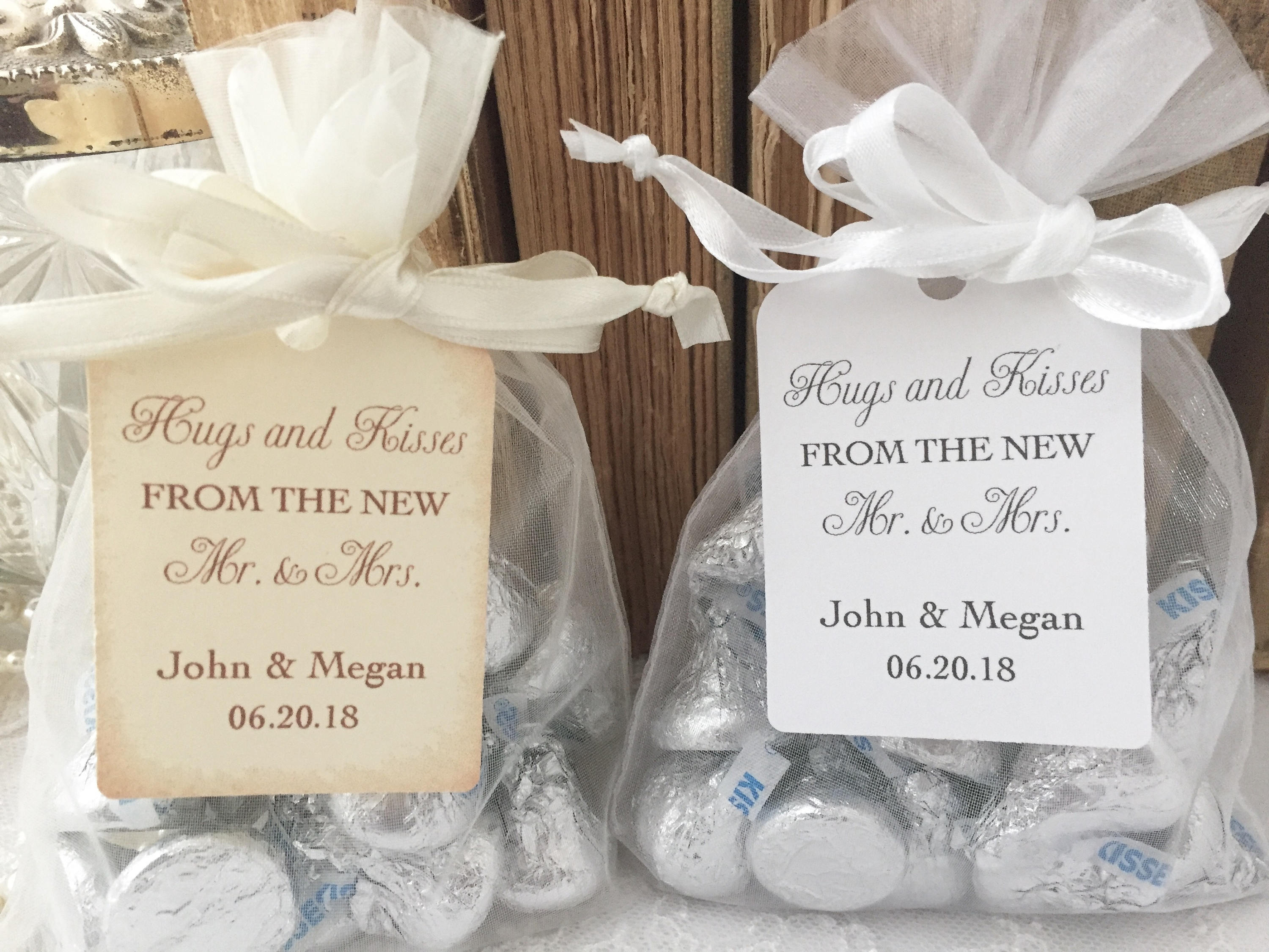 Hugs and Kisses Wedding Favors Hugs and Kisses Favor Bags