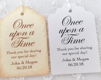 Once Upon a Time Wedding Tags, Once Upon a Time Tags, Fairytale Wedding Tags, Storybook Wedding Tags, Set of 10