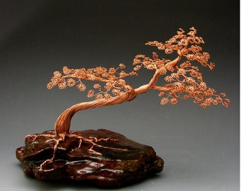 Bonsai Tree Art Sculpture Handcrafted By H-Omer - 1982 - FREE SHIPPING