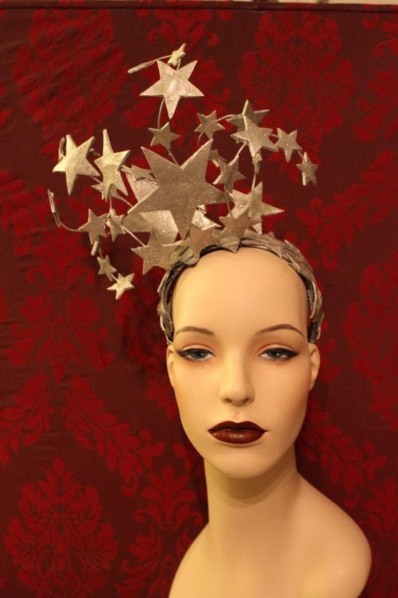 Helle Sterne Kopfschmuck funkelnde Silber Leder und Glitter   Etsy