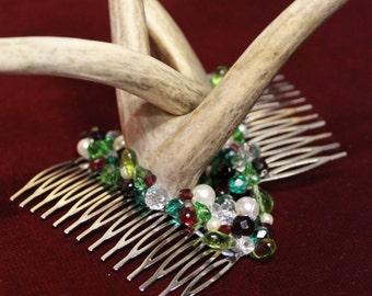 Yule Antlers - Festive Antler and Crystal headdress   - To Order