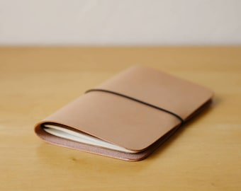 Natural Leather Notebook with Moleskine