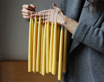 Hand Dipped Beeswax Candles // Pair of Tapers