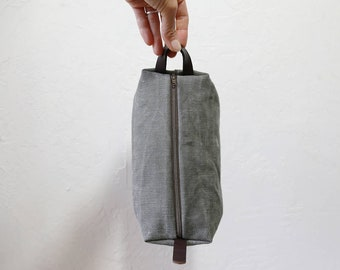 the Mini Duffel in Vintage Military Canvas