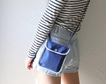 Summer Satchel Mini in Royal Blue Organic Cotton