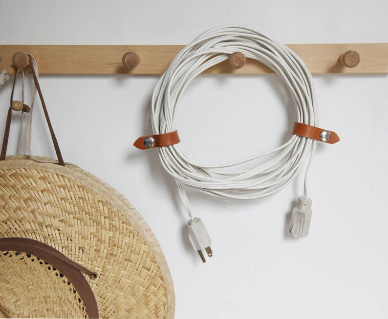 Set of 3 Leather Cord Clasp