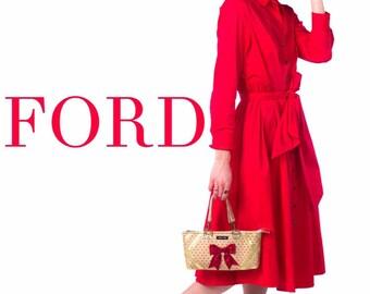 Florence zippered convertible gold and red handbag crossbody clutch by maris rae handbags