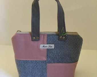 Maris Rae Mini blue rosé color block handbag by maris rae handbags upholstery texture bag