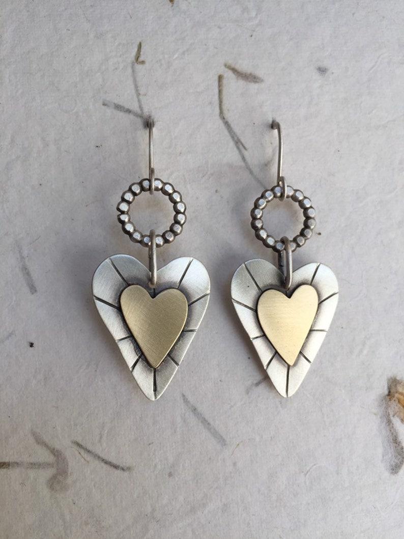 a6b7082b9 Angel Hearts Heart Earrings Angel Heart Earrings Mixed | Etsy