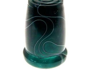 Handmade Acrylic Thimble Jade Green Swirls