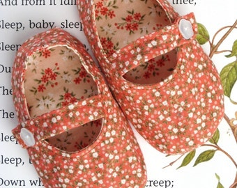 Mary Jane Baby Shoes Sewing Pattern