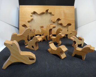Wooden Horse Tray Puzzle Toys