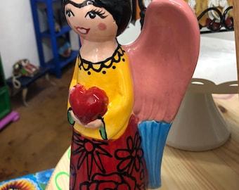 Custom Angel Statue - Red Dress