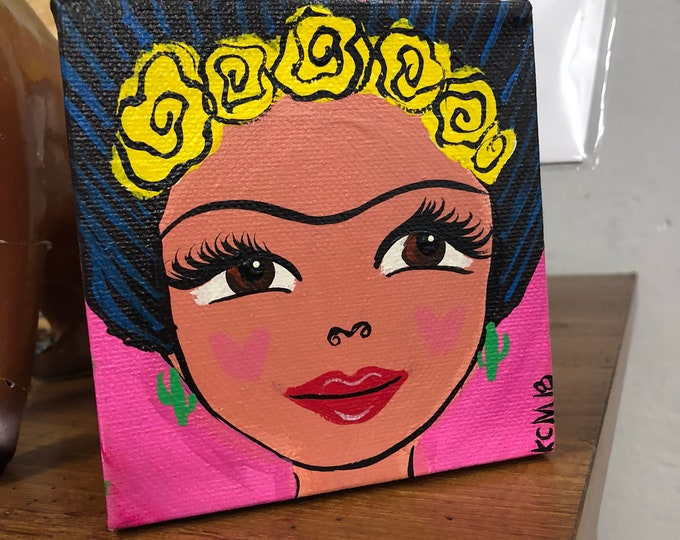 La Mujer Canvas Painting PINK