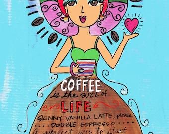 AFFIRMATION PRINT: Coffee Time 8x10
