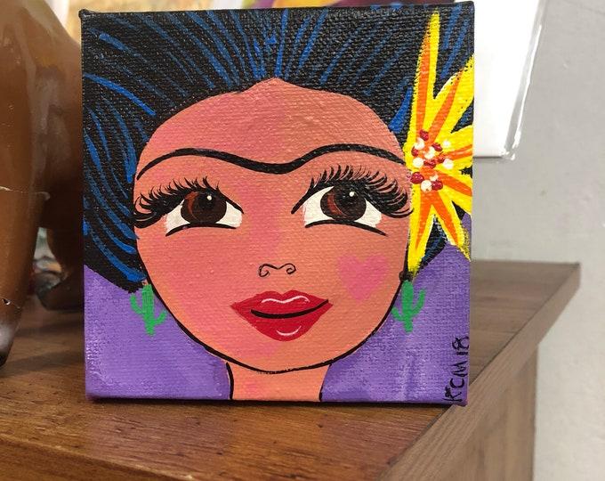 La Mujer Canvas Painting PURPLE