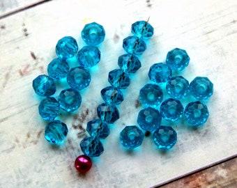 Matte Medium Topaz  6x4mm 50 Czech Frosted Sea Glass Teardrop Beads