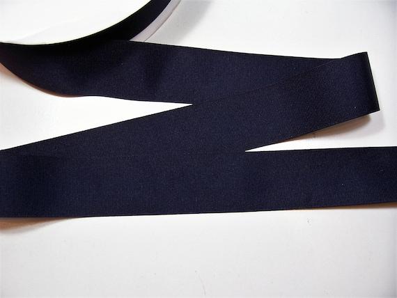 Navy Blue Grosgrain Ribbon 3//4 inch wide x 1 yard Navy Ribbon Rayon Cotton