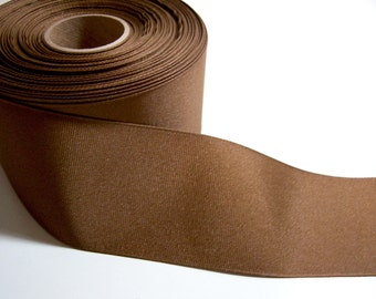 Wide Brown Ribbon, Light Brown Grosgrain Ribbon 2 1/4 inches wide x 10 yards