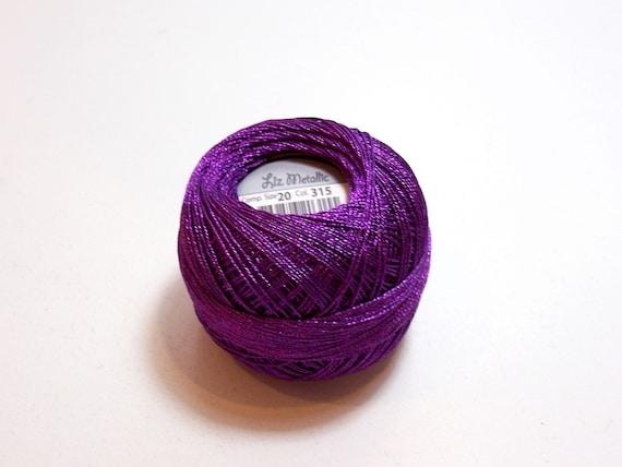 Tatting Thread Lizbeth Size 20 Metallic Crochet Thread Etsy