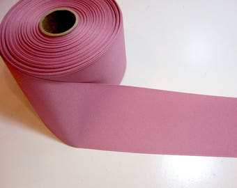 Wide Pink Ribbon, Mauve Grosgrain Ribbon 3 inches wide x 3 yards, SECOND QUALITY FLAWED