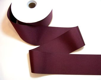 Wide Burgundy Ribbon, Offray Burgundy Grosgrain Ribbon 3 inches wide x 3 yards