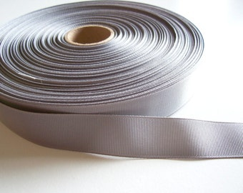 Light Gray Ribbon, Light Gray Grosgrain Ribbon 7/8 inch wide x 10 yards