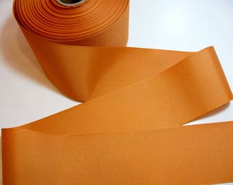 Wide Orange Ribbon, Offray Ginger Grosgrain Ribbon 3 inches wide x 3 yards, Burnt Orange Ribbon