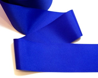 Blue Ribbon, Dark Royal Blue Grosgrain Ribbon 3 inches wide x 3 yards