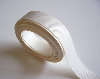 Ivory Ribbon, Ivory Grosgrain Ribbon 1 inch wide x 10 yards