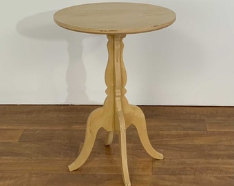 Scrolled Base Round Side Table