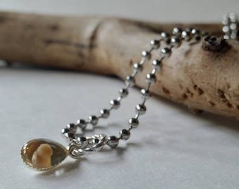 ƸӜƷ SALE Tear drop Mustard seed jewelry, REAL mustard seed charm
