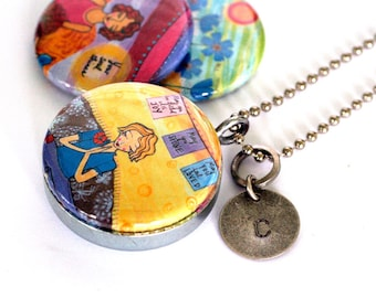 Yoga Jewelry, Yoga Locket Necklace, Gift for Yoga Lover, 3 Lockets in 1, Mirror, Inspirational Jewelry, Meditation, Lori Portka, Polarity