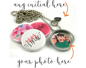 Mom Strong Locket Necklace • Tired As a Mother Locket Necklace  • Mom Jewelry • Gift for Mom • Mother Necklace  • Holds a Picture • MOM Gift