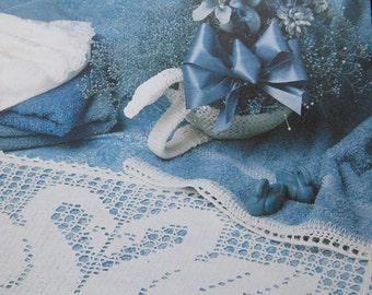 Annies Attic Swan Lake Bath Set Crochet Pattern Book