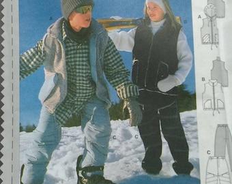 bcffcefa7 sleek 309c6 79e02 burda teen snow ski pants vest pattern 2930 ...