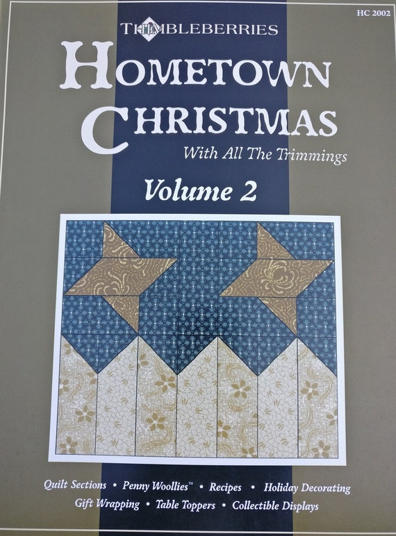 Christmas Street Countdown To Christmas Hometown Christmas Volume 2  Thimbleberries Quilt Patterns