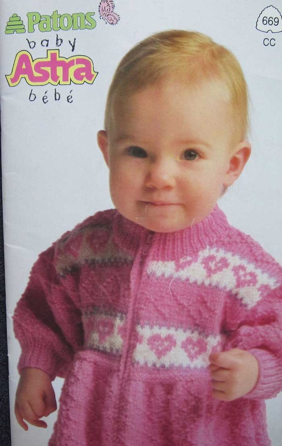 Patons Baby Astra Knitting Pattern Book from TheHowlingHag on Etsy ...